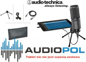 Audio Technica AT2020 USBi + etui kable statyw