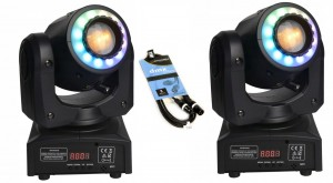 2 x Fractal Lights MINI LED GOBO SPOT 60W + DMX 3m