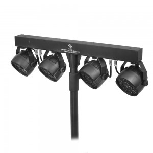 LED PAR Set 4x PAR 36 12x3W + Statyw + Kontroler