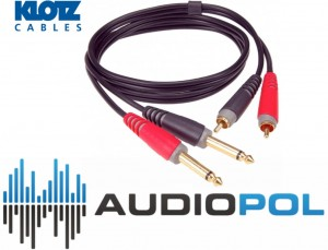 Klotz AT-CJ0100 KABEL 1m 2xJACK/2xRCA