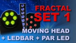 FRACTAL SET1 GŁOWICE + PAR + LED BAR